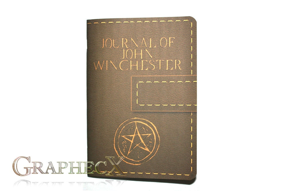 Supernatural John Winchester Journal Inspired Personalized
