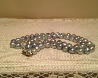 "Grey Baroque Pearls 20"" Strand"