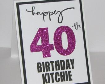 Personalized Milestone Birthday Card - Happy Birthday Card - Milestone Birthday
