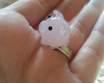 Pig Lampwork Glass Bead