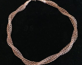 Viking knit twist necklace