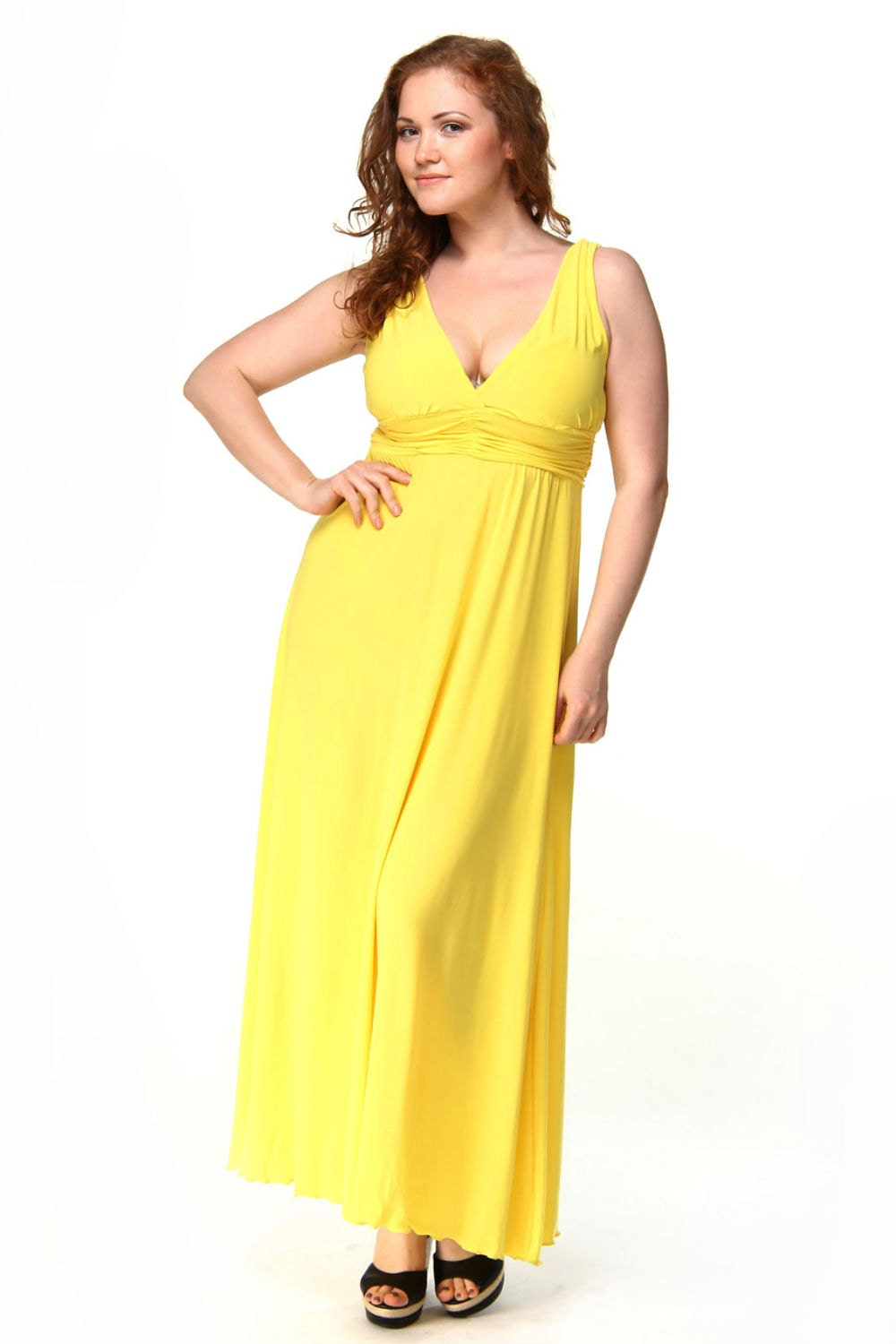 Plus Size Formal Yellow Maxi Dresslong Evening Dress By