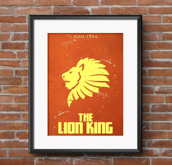 The Lion King Minimalist Movie Poster With Release Date
