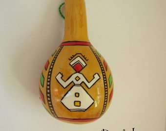 Small Gourd with Bulgarian folklore motif. Ornament of woman. Wonderful  souvenir for everyone.
