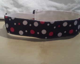 Black PolkaDot NonSlip Headband