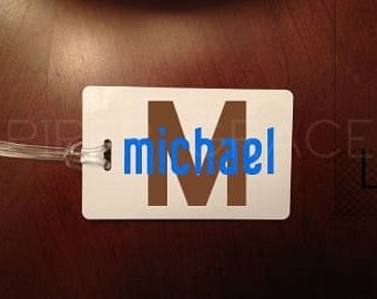 Personalized Luggage Tag, Personalized Bag Tag, Custom Luggage Tags, Initial Luggage Tag