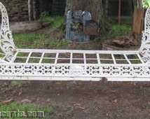 French Antique Authentic cast iron day bed very decorative and rare style