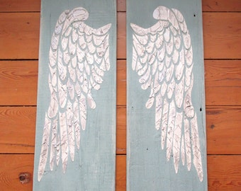 Angel Wings Angel Wing Sign Angel Wing Distressed Signwood