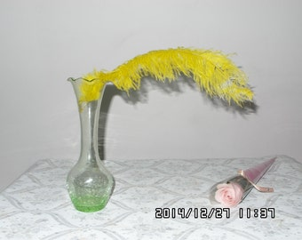 100pcs yello  Ostrich Feather Plume for Wedding centerpieces