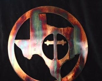 Texas with Cross