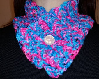 Scarf with Button, Crochet