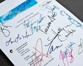 Pretty Little Liars TV Script with Signatures/Autographs Reprint