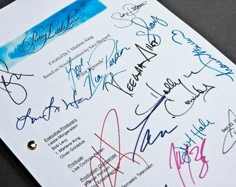 Pretty Little Liars TV Script with Signatures / Autographs Reprint Unique Gift Christmas Xmas Present Film Movie Fan Geek PLL Ashley Benson