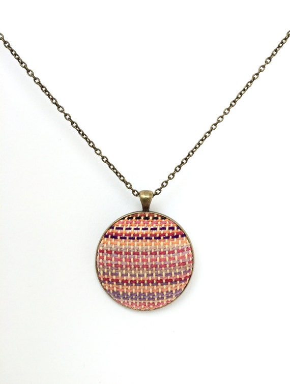 items similar to handwoven wrap scrap necklace by mamoose