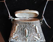 Handmade Indonesian Keepsake Pouch of Carved Metal