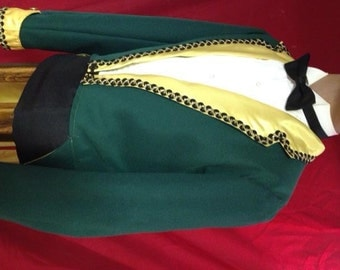 Green Stilt Walker Coat with Tails