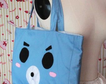 Bear face totebag