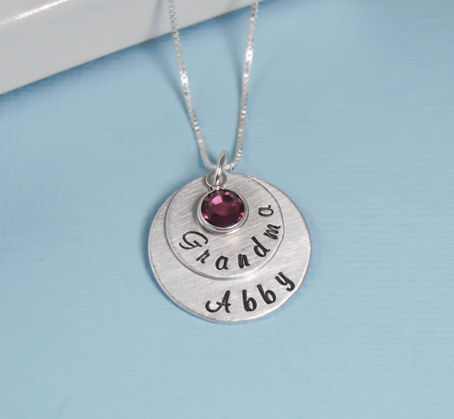 Personalized grandma necklace layered grandma with name and for Grandmother jewelry you can add to