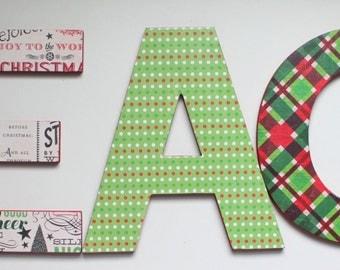 Christmas decor PEACE letters