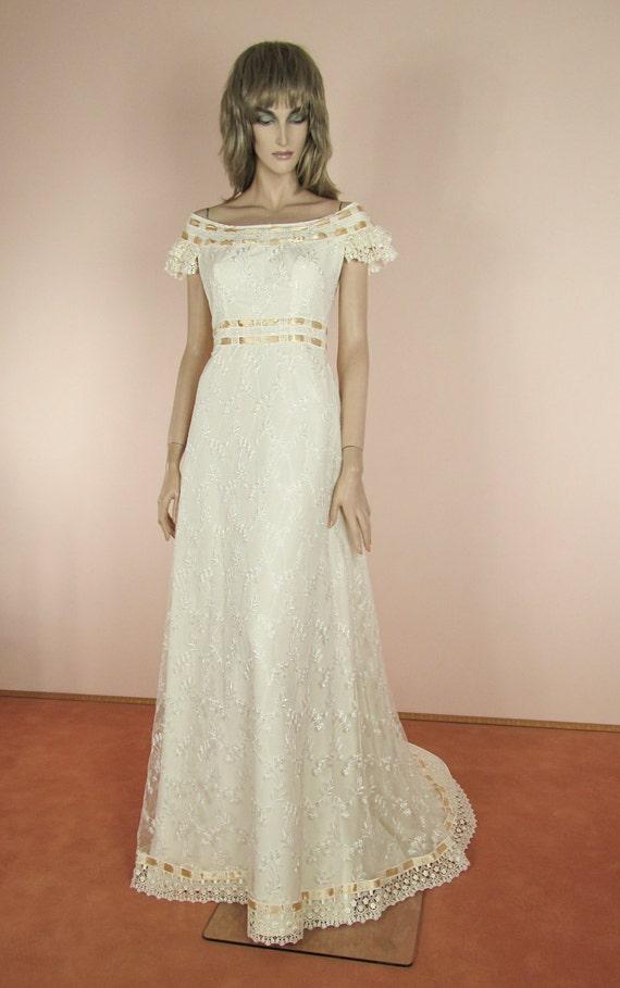 70 39 s vintage wedding dress very nice elegant ivory for 70s style wedding dress