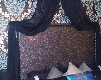 Luxury Glitter Bed Crown Canopy, Made to Order, Bespoke, Handmade
