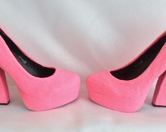 Chunky high heels | Etsy
