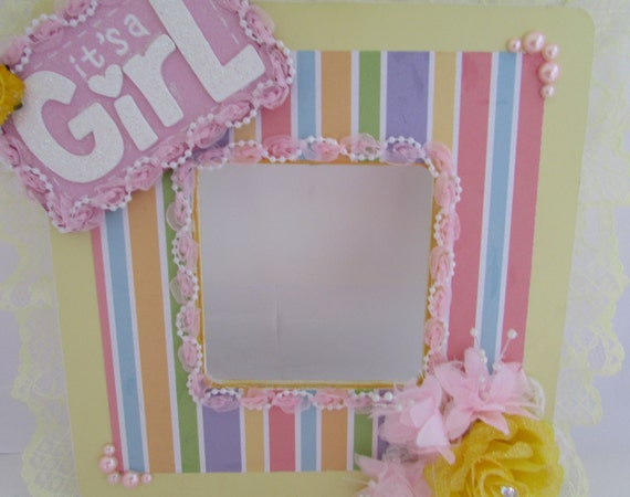 picture frame baby shower gift nursery photo frame yellow picture
