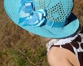 Girls Hats Crochet hat Summer Hat Kids spring Sun hat Bow Hat Wide brim hat Kids Gift for kids Baby girl gift Girls Outfits Birthday gift