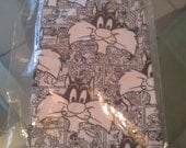 Vintage 1990's Black & White Collectible Warner Bros. Official Sylvester the Cat Comic Strip Necktie