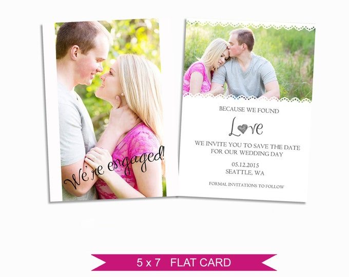 Save the Date Card - Photoshop Template - INSTANT DOWNLOAD - EM01