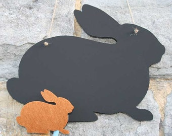 Rabbit Chalk Board. Great for the childrens bedroom, hallway or kitchen