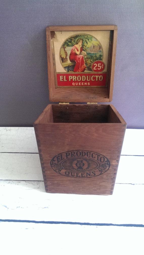 El Producto Queens Cigar Box Antique Cigar Box Art Nouveau