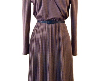 Purple jersey pleated dress