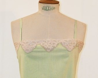 60s Almond Green camisole dress