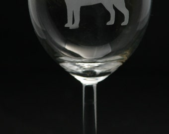 Labrador Wine Glass