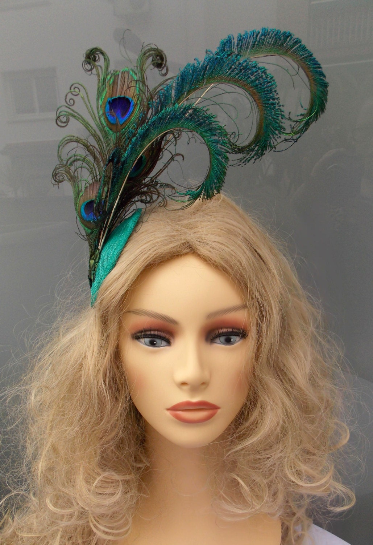 tocado plumas de pavo real tocado plumas tocado verde