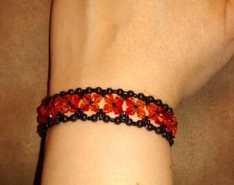 Crystal Elegance Bracelet in Red