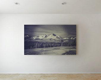 Mountain Print Large Canvas Print - Landscape Art, Large Canvas Art, Large Print, Large Wall Art, Large Wall Decor, Large Wall Print