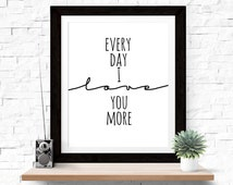 Unique everyday i love you related items Etsy