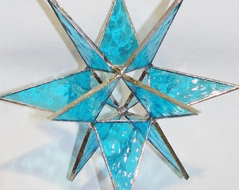 LARGE 7 inch Stained Glass  Moravian STAR Handmade and Beautiful !!