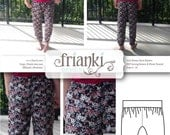 Girls Harem Pants - PDF Sewing Pattern and Photo Tutorial - Sizes 3 to 10 - Instant Download - Kids Toddler Child Easy Sew Pattern