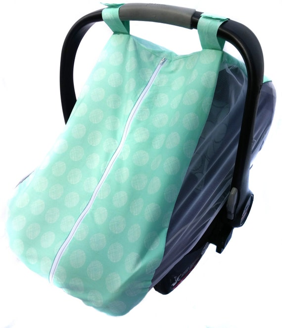 fitted cotton car seat cover for spring summer mint or pink. Black Bedroom Furniture Sets. Home Design Ideas