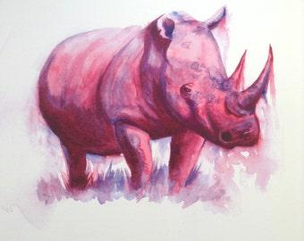 Rhino Art Etsy