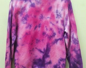 Marble Tie Dye Crew Neck Jumper Pink/Purple