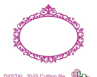 SVG Cutting frame (svg, dxf. png) digital instant download Silhouette Cameo cutter Laser EasyCutPrintPD