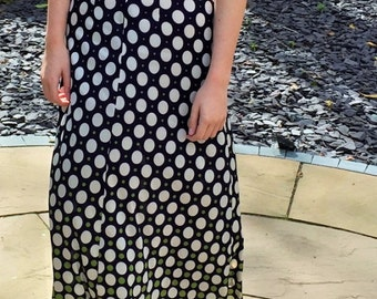 Vintage 1970's Summer Maxi Dress.Concord label. UK size 8
