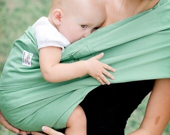 Baby Sling Baby Carrier cotton with 2 practical pockets Jade Jazslings quick and easy