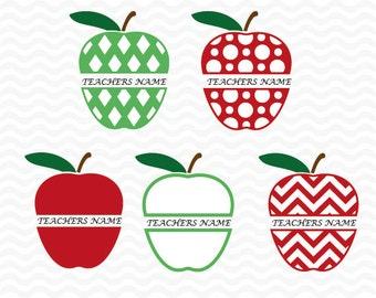Teacher appreciation svg, Apple svg, Teacher svg files, svg cutting files, for use with Silhouette Studio and Cricut Design space.