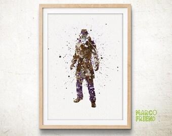 Watchmen Superhero Rorschach Watercolor Art Poster Print - Home Decor - Wall Art - Watercolor Painting - Kids Decor - Nursery Decor - 63