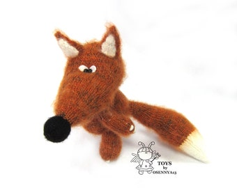 Little Fox - knitting pattern (knitted round)